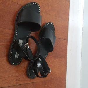 Steve Madden Black Leather Sandals